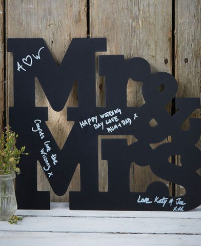 Mr & Mrs ChalkBoard - Alternative Guest Book