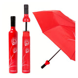 Peacock Red Bottle Umbrella