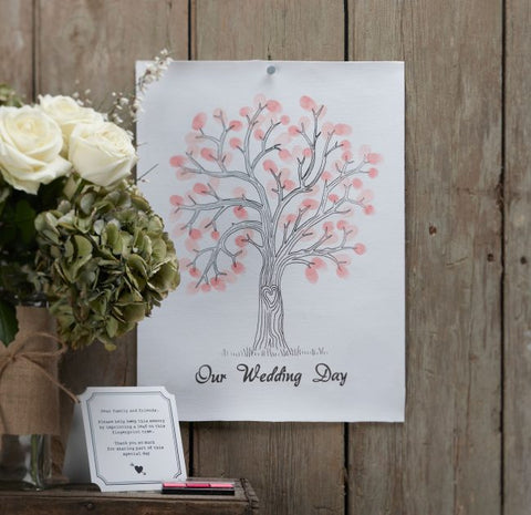 Finger Print Tree  Alternative Guest Book