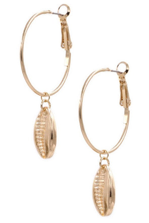 Running Circles Shell Earrings