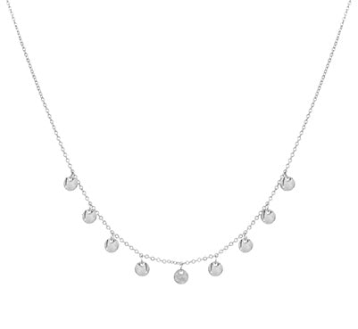 Matte Silver Disc Necklace