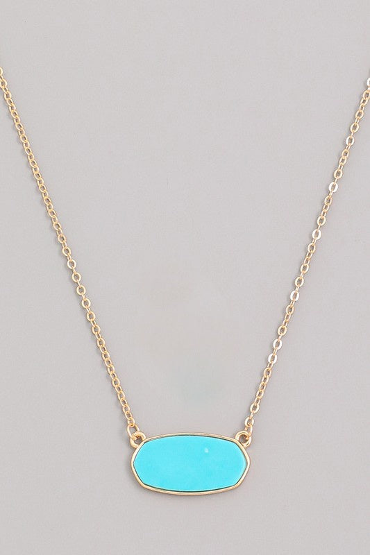 Another Level Necklace - Turquoise