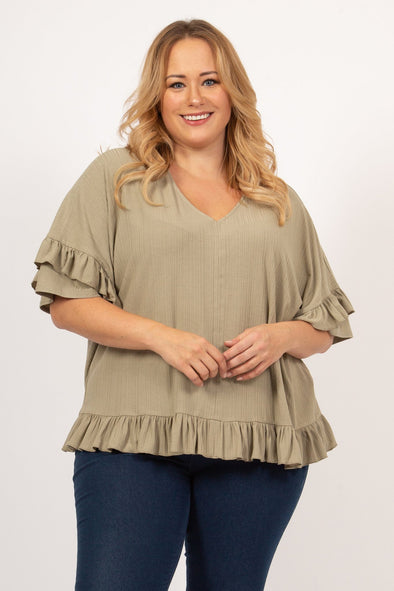 Falling In Love Top - Plus Size