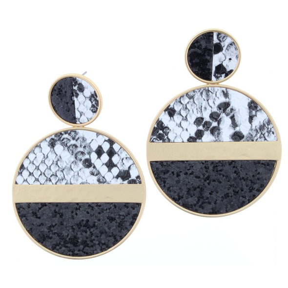 Remi Earring Collection - Snake Glitter Circles