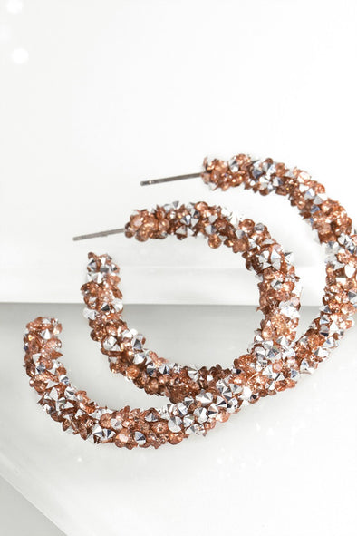 Special Sparkle Hoop Earrings