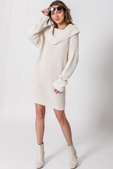 Ahead of the Curve Sweater Dress