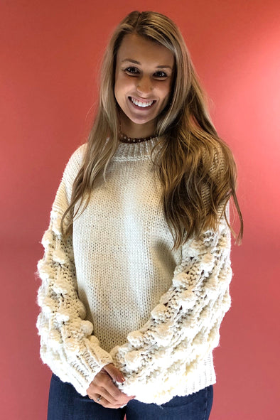 Weather the Storm Sweater - Ivory