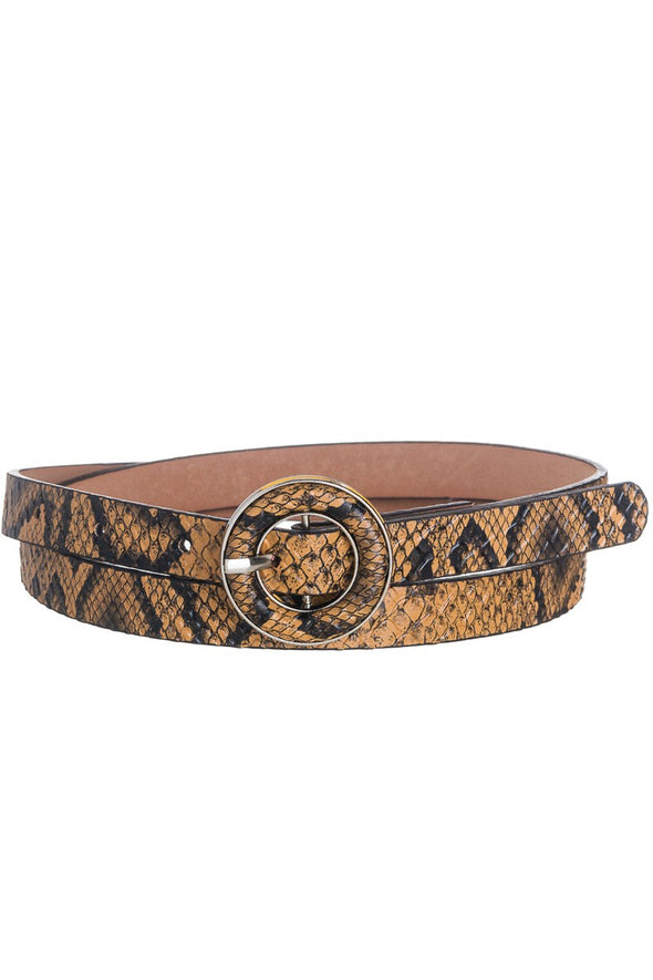 Come This Way Snakeskin Belt