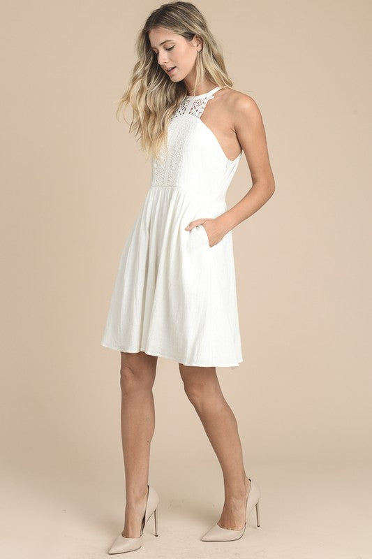 My Way Halter Neck Dress