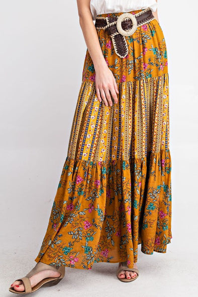 Wild Bloom Maxi Skirt