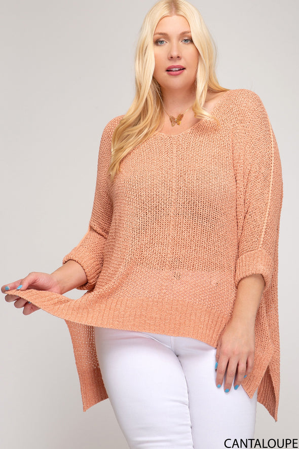 Meet Me in the Middle Sweater - Plus Size