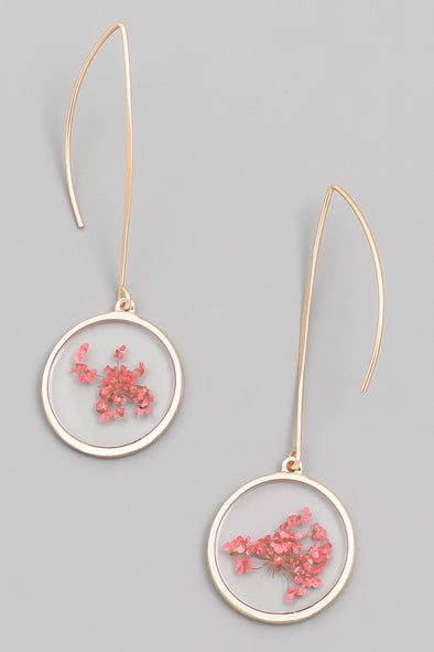 Red Flower Fun Earring