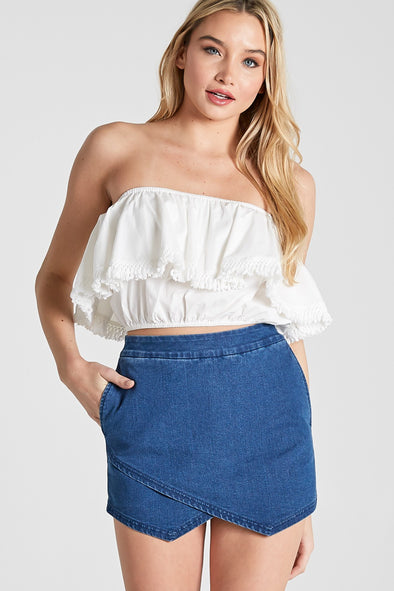 Figure It Out Cropped Top