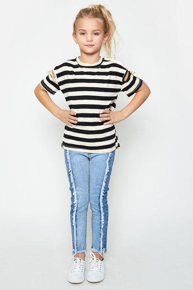 Wild Side Two Tone Jeans - Tween
