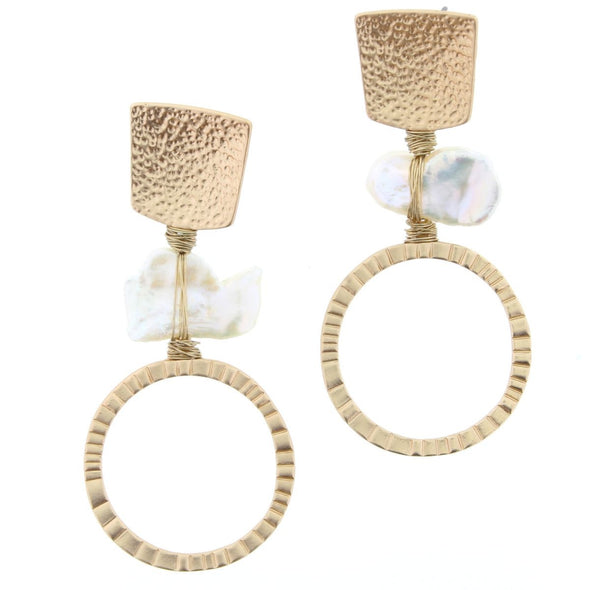 Luminous Earring Collection - Pearl Drop Circle