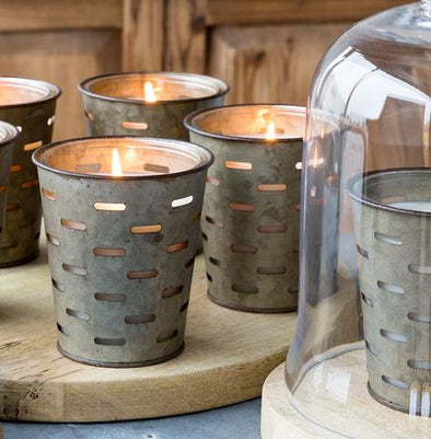Olive Bucket Candle - Spring Water
