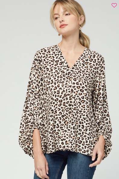 Want You Leopard Top