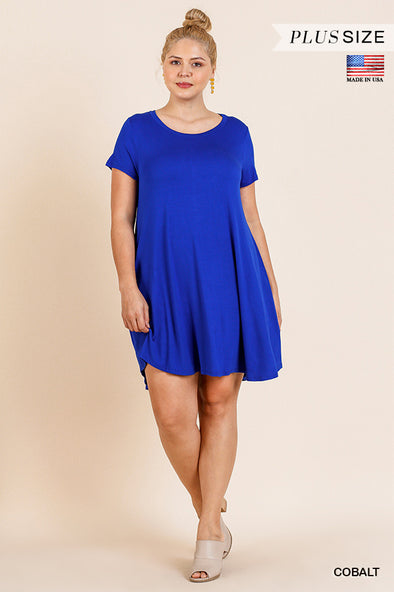 Before You Go Pocket Tee Dress - Plus Size