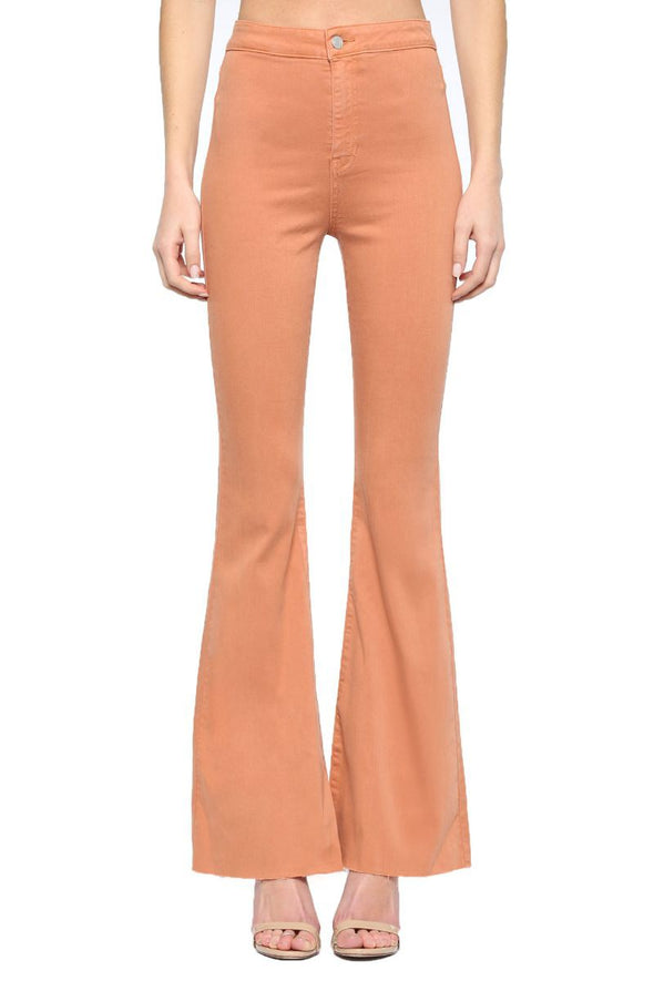 Had On High Super Flare Jeans - Chestnut