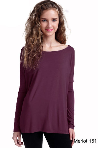Close to Perfect Piko Top - Merlot