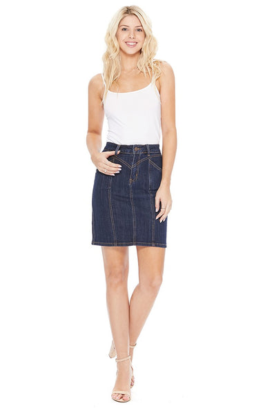 Crossroad Ahead Denim Skirt