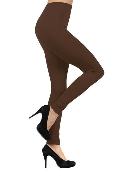 Fleece Leggings - Brown One Size