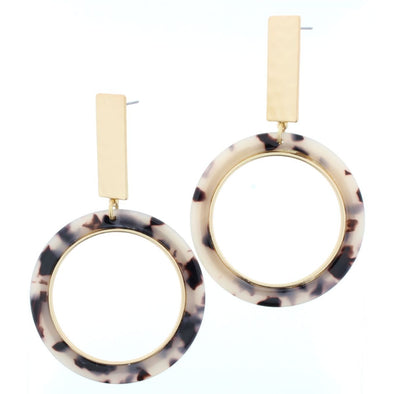 Remi Earring Collection - Circle Resin