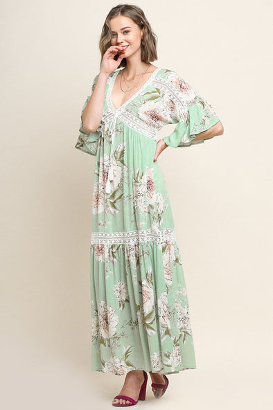 So Much Better Floral Maxi Dress