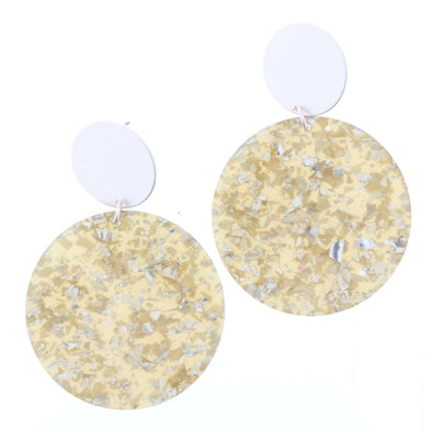 Luminous Earring Collection - Silver Circle Resin