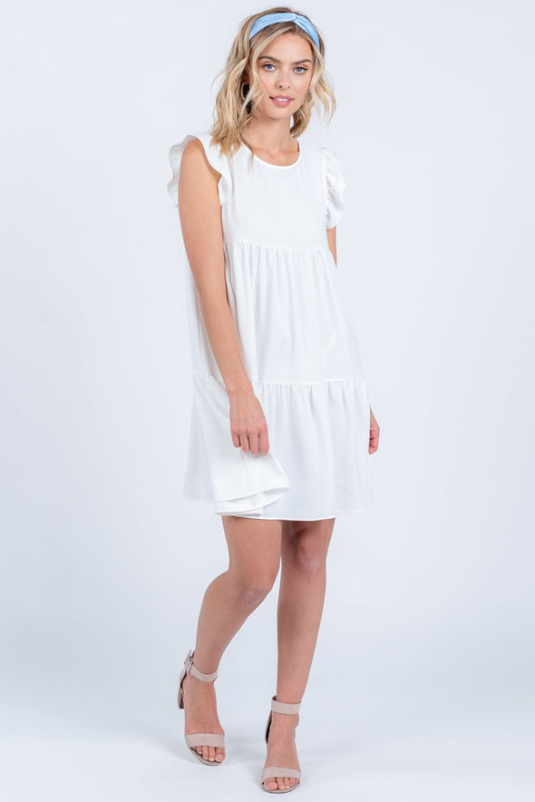 Hop to It Dress - Ivory