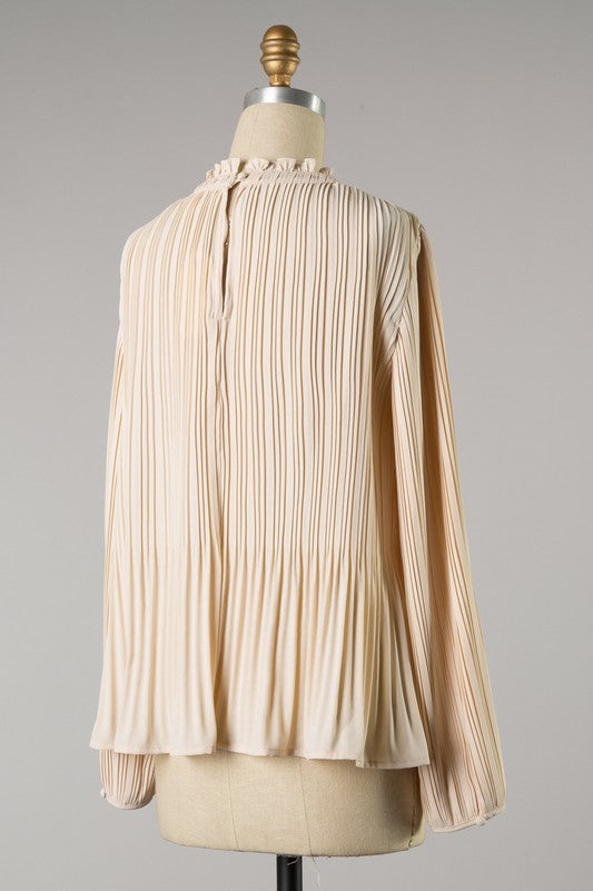 When I Think Of You Pleated Top