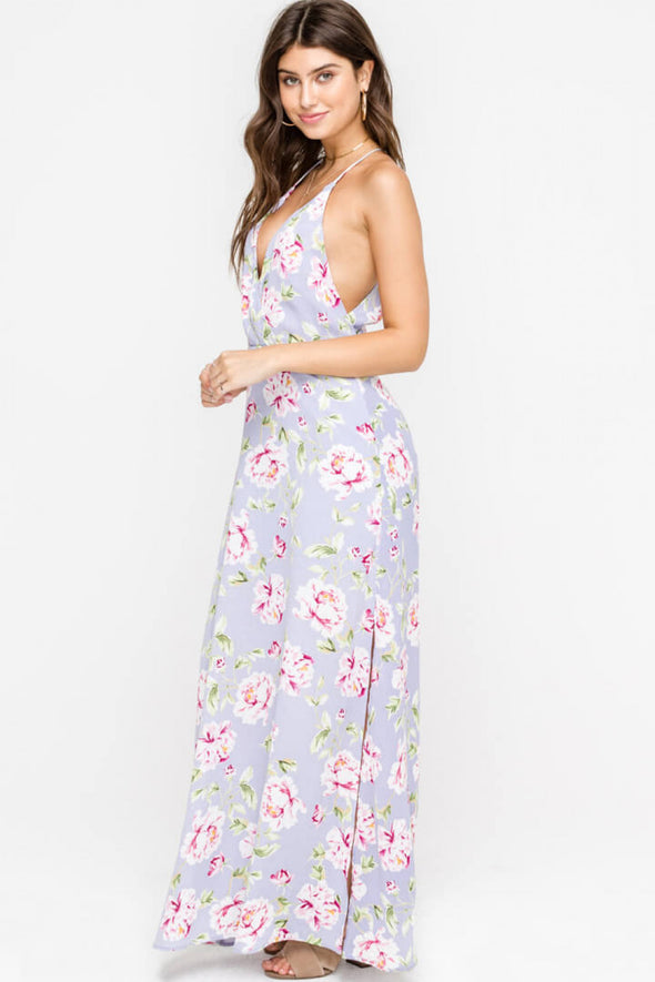 A Time For Everything Floral Maxi Dress