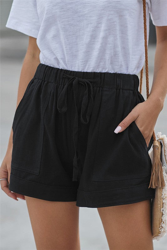 Live A Little Shorts - Black