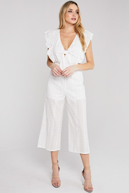 Have the Chance White Jumpsuit