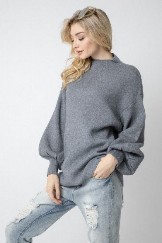 Uptown Love Mock Neck Sweater