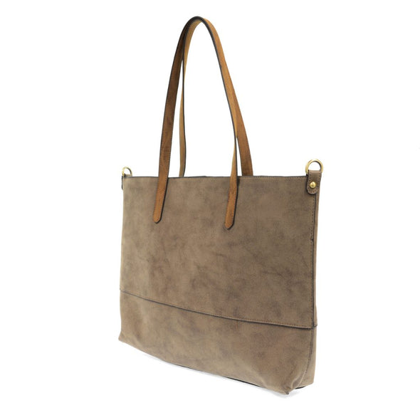Joy Susan Brushed 2 in 1 Tote - Cocoa