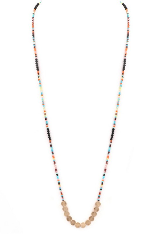 Let It Go Beaded Necklace - Multiple Colors