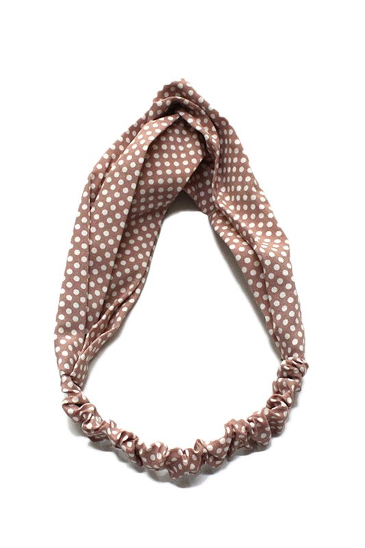 Small Polka Dot Knot Headband