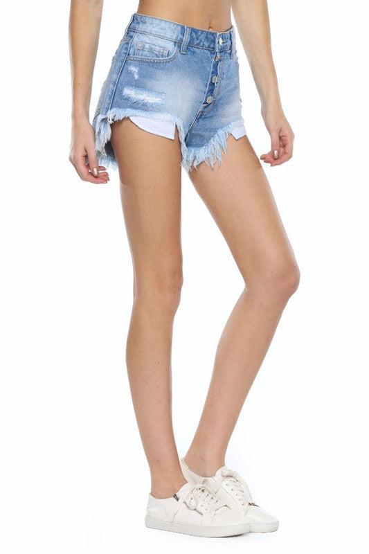 Up for Anything Denim Shorts