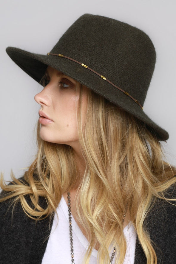 Around Town Wool Hat - Dark Olive