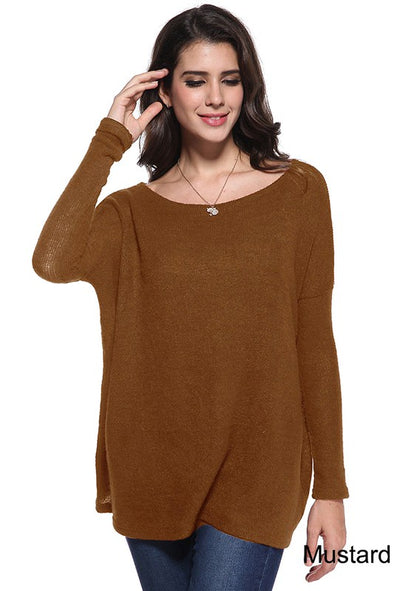 Give Me More Piko Sweater - Mustard
