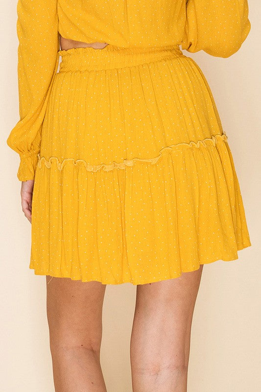 Friday Nights Ruffle Skirt
