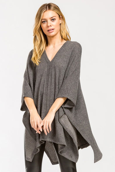 More To Know Knit Poncho Top