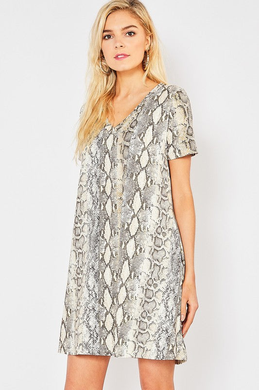 My Way Snake Print Dress