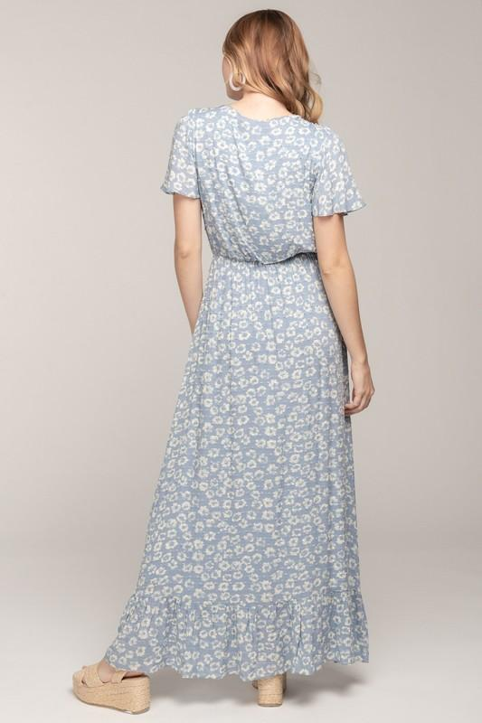 Clear to Me Floral Maxi Dress