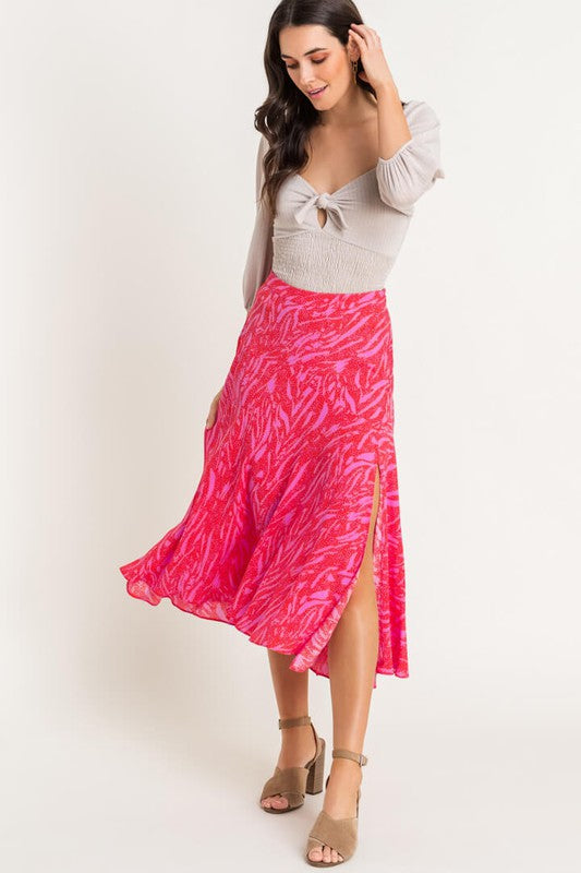 Look My Way Midi Skirt