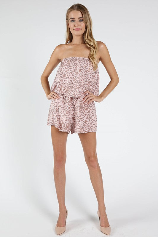 Work This Out Leopard Romper