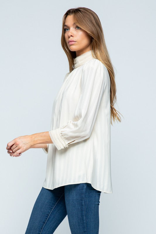 Back In Your Life Pleated Top
