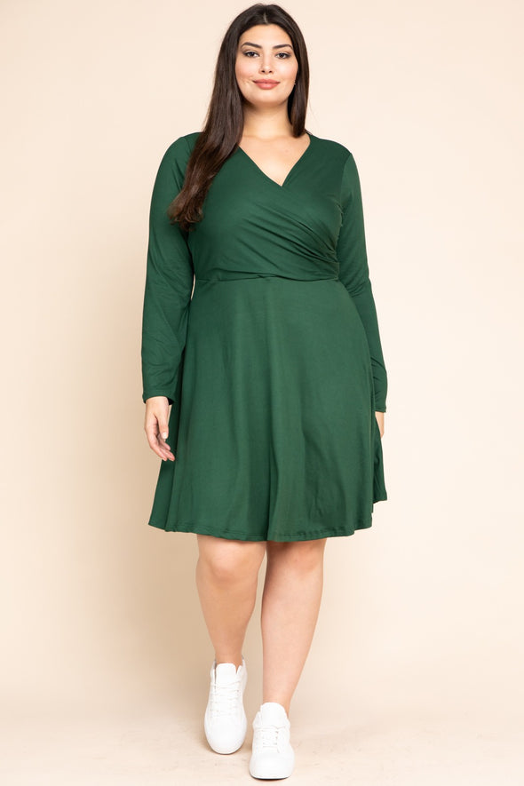 Beautiful Sight Wrap Dress - Plus Size