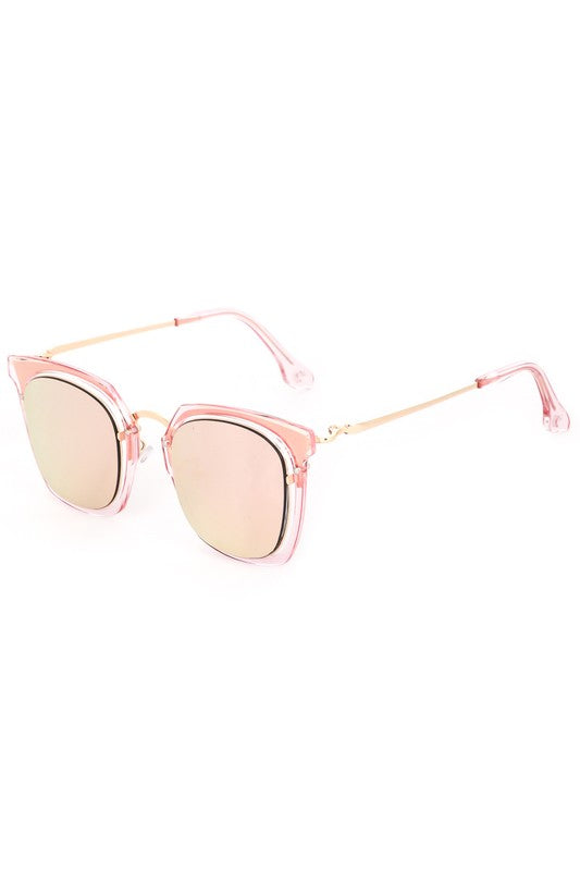 Clear Acetate Color Tint Sunglasses